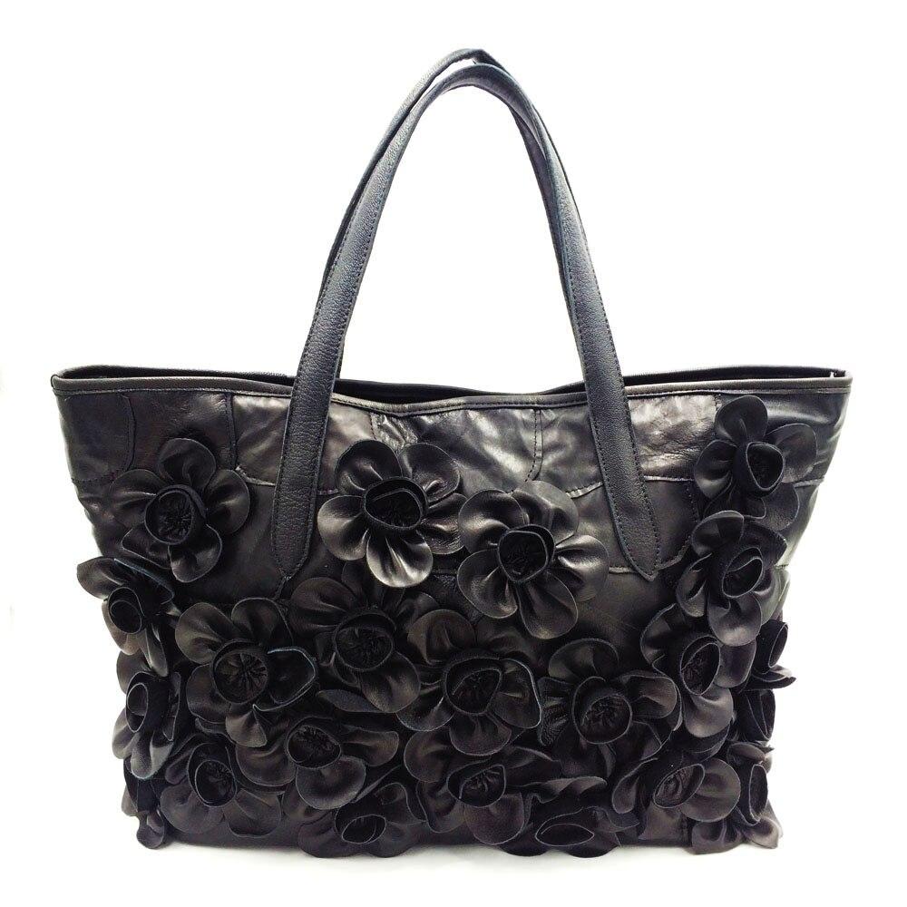 97fdea195 QIAOBAO nuevas mujeres hecho a mano bolso colorido Patchwork cuero genuino  de la bolsa tejida apliques de cuero bolso en Bolsas de hombro de Bolsos y  ...