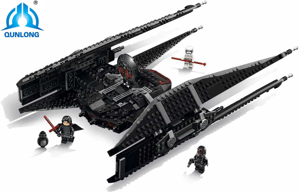 Legoing Star Toys Wars 705Pcs Star Kylo toys Tie Fighter Set Model Building Blocks Bricks With LegoNGLY 75179 Qunlong StarWars