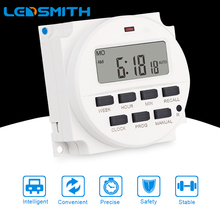 LEDSMITH AC 220/110V DC 12V LCD Digital Display Smart Power Timer 7 Days Programmable Switch Builton  Rechargeable Battery