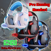 Kotion Pro Игровые наушники G2100 Pro Игровые наушники онлайн игры светодиодный гарнитура объемного звука чувствовать + микрофон