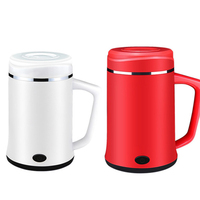 DMWD 0.4L Dormitory Mini Electric Heating Cup 220V Small Electric Kettle For Travel Office Water Boiler For Tea 1 2 People
