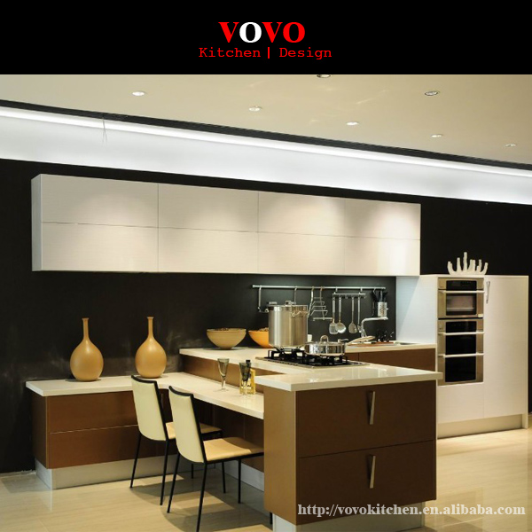 High Quality Modern High Gloss Grey Color Kitchen Cabinets In