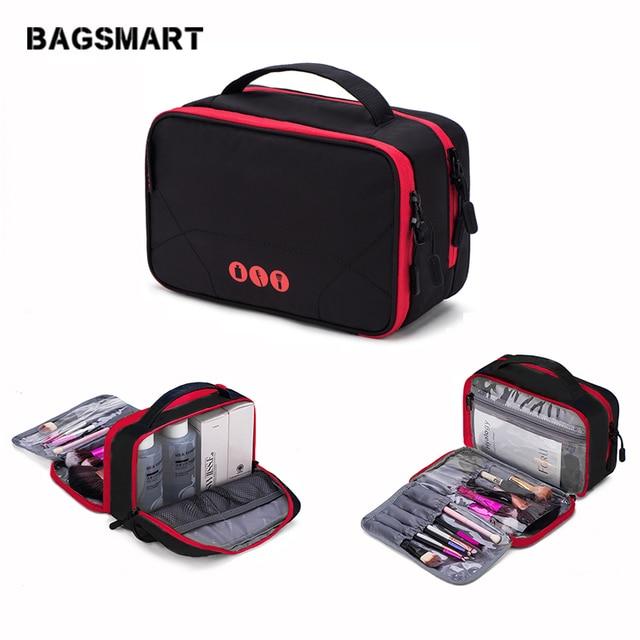 34fdd5e66ec6 BAGSMART Large Capacity Toiletry Bags Waterproof Makeup Bag Nylon Travel  Cosmetic Bag Makeup Organizer Wash Bag