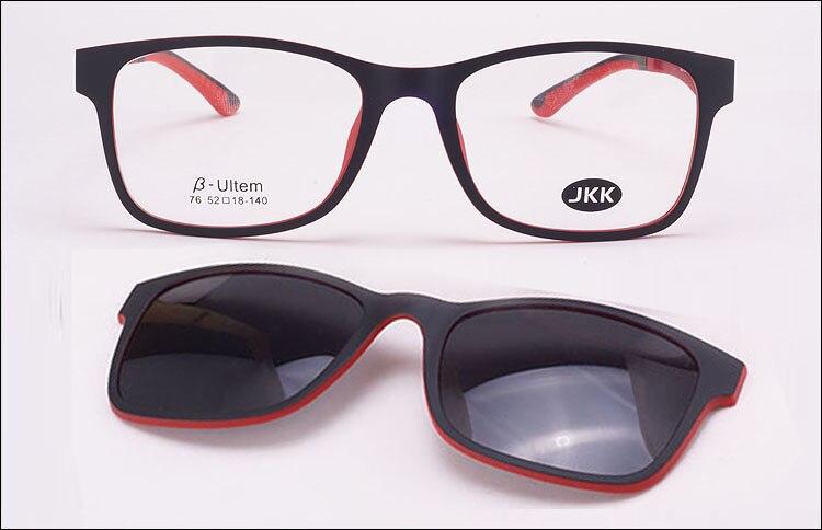 Jkk80 top qualité Ultra-léger Ultem titane lunettes cadre ceinture aimant  optique cadre lunettes avec clip sur lunettes de soleil polarisées 72111c092948