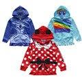 Бесплатная Доставка Минни Маус/Princess Sofia/Маленький Пони Куртка С Капюшоном для Девочек