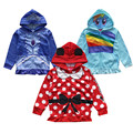 Free Shipping Minnie Mouse /Princess Sofia/Little Pony Hooded Jacket for Girls