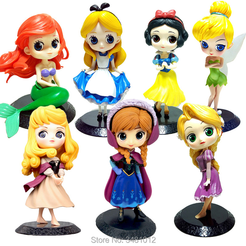 Toys & Hobbies Original Disney Princess Anna Mini Dolls Action Figures Toys For Girls Children Birthday Gifts With Color Box 23*20*7.6cm