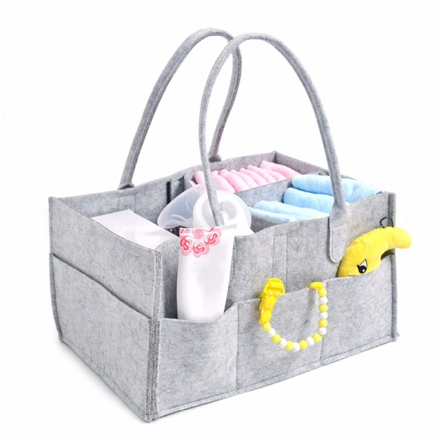 Baby Diaper Caddy Organizer Nappy Changing Storage Bag For Mother Bag Large Portable Car Travel Bottle Organizer Baby Bag