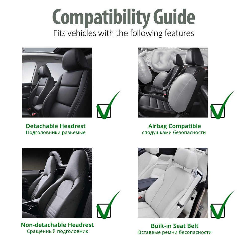 AUTOYOUTH/Хлопковые подушки для автомобильных сидений, 2 сиденья, дышащие Чехлы для автомобильных сидений, универсальные грузовики-внедорожники, Темно-Синие Нескользящие