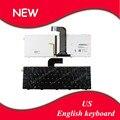 Nuevo teclado para dell inspiron 14r n4110 m4110 n4050 inglés n411z m4040 xps l502 negro marco negro retroiluminado portátil ee. uu. teclado