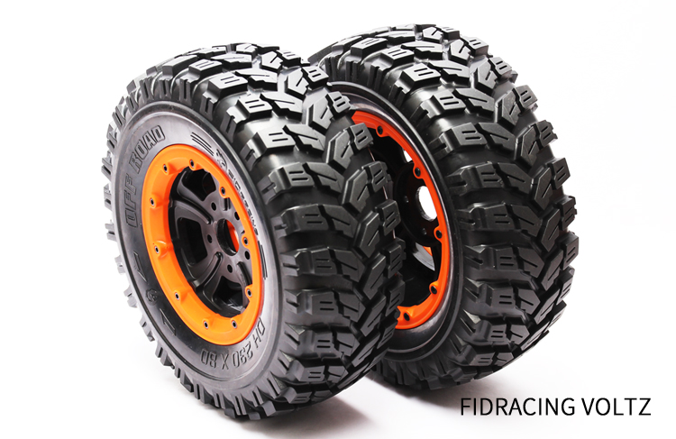 FID wide wheel offroad tire for 1/5 LOSI 5ive-t 5T Dragon Hammer 230*85mm fid cnc alloy remote one key reverse system for losi 5ive t 5t losi mini wrc 1 5 rc car gas