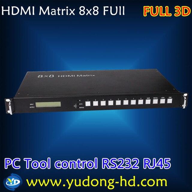 HDMI Матрица 8X8 1.4 В 3d 1080 P switcher и сплиттер с ПК Инструмент управления RS232/RJ45