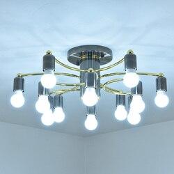 Nowoczesne E27 lampy sufitowe salon sypialnia jadalnia oświetlenie LED do pokoju pułap światła proste mody sufitu lampa halogen E27 led AC85 265V|Oświetlenie sufitowe|   -