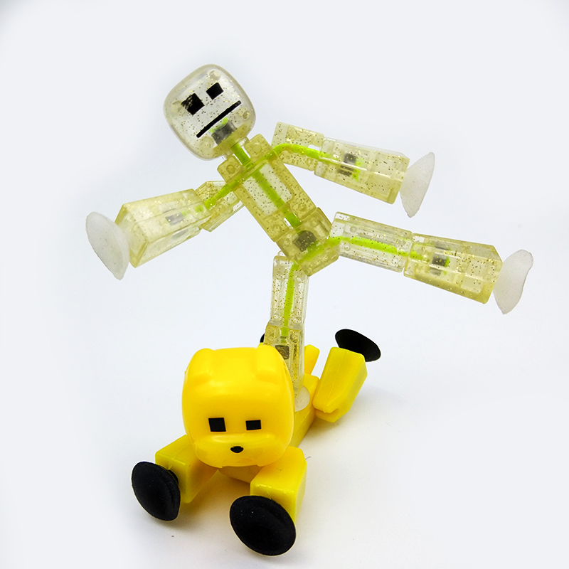 2pcs Stikbot Sucker Kawaii Anima Figure In Action Figure Suction Cup Funny Deformable Sticky Robot Toys Cute Man Animal JY61 cartoon animal action figures minifigures stikeez toys sucker mini suction cup collector capsule model kids toys