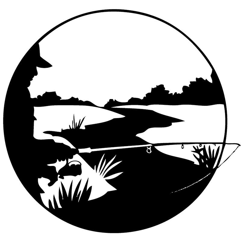 Fishing Vinyl Decal Sticker For Car or Truck Windows Laptops etc in Car Stickers from Automobiles Motorcycles