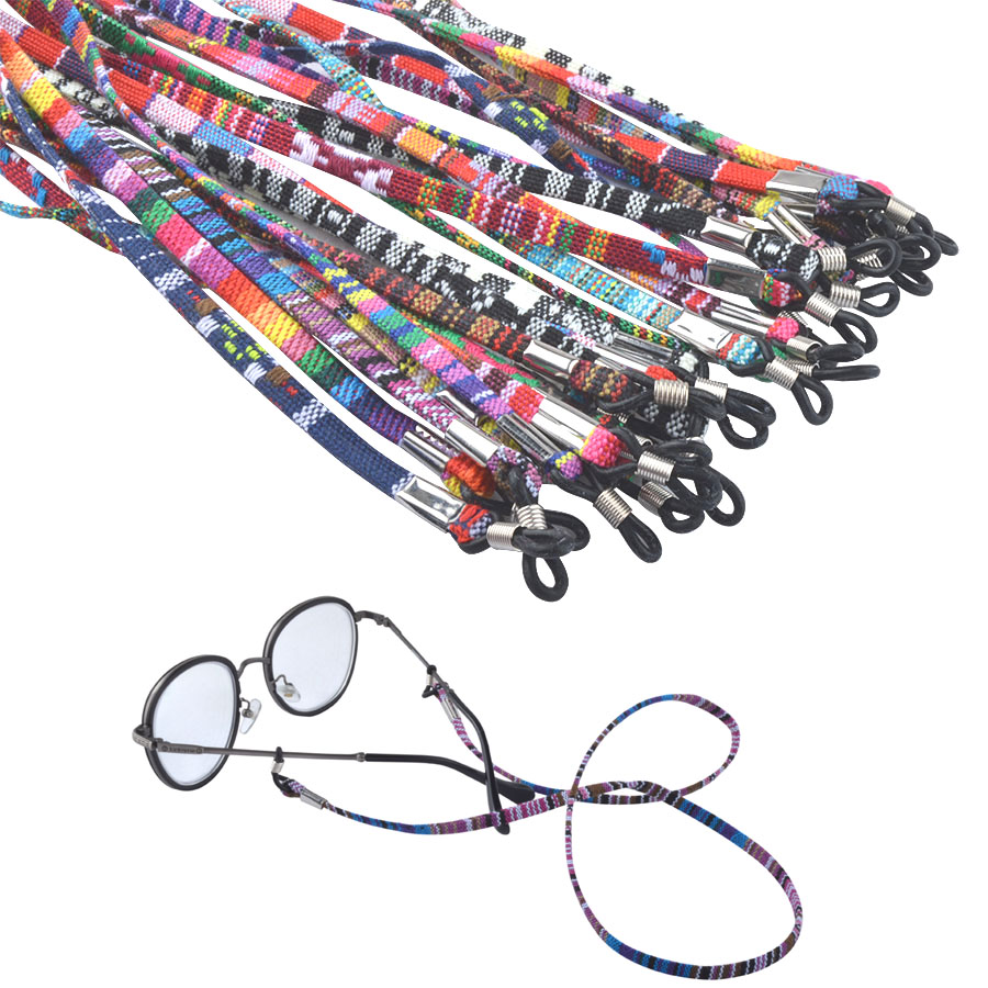20 PCS Rétro lunettes de soleil en coton cou chaîne cordon de retenue  sangle longe lunettes titulaire avec bonne silicone boucle 13 couleurs  option 5b31bcdb50ee