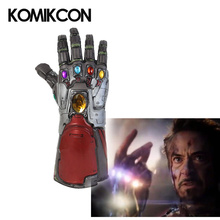 Endgame Iron Man Hulk Thanos Infinity Gauntlet Latex Gloves Tony Stark Adults Arms Superhero Weapon Halloween Party Cosplay Prop