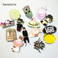 1 PCS Cartoon Pin Badge Free Shipping Lovely Cartoon Acrylic Pin Badge Backpack Decoration Badges Icons