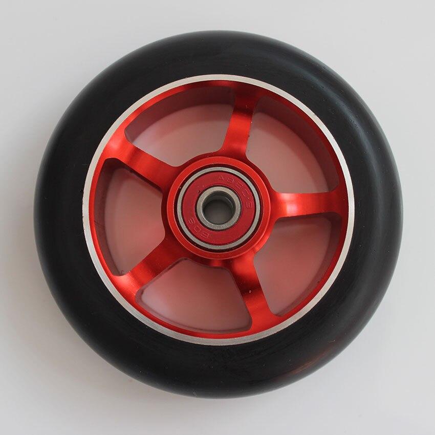 Prix pour 4 PCS Scooter En alliage D'aluminium haute élastique PU roues 100x24mm 88A ABEC-9 roulements