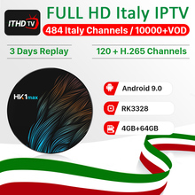 1 Year IPTV Italy France Arabic IP TV ITHDTV HK1 MAX Android 9.0 4G+64G BT Dual-Band WIFI