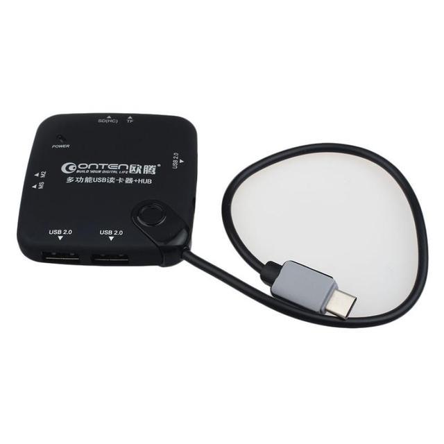 Preço de fábrica usb 3.1 tipo c múltipla 3 portas hub & tf sd ms card reader para pc macbook 51228 gota grátis