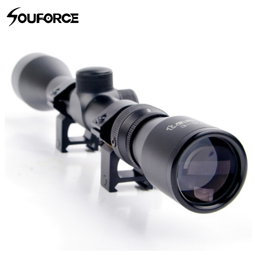 3-9X40 Adjustable Outdoor Tactical Riflescope Reticle Sight Scope With 20 Mm Rail Mount  Hunting Scope B