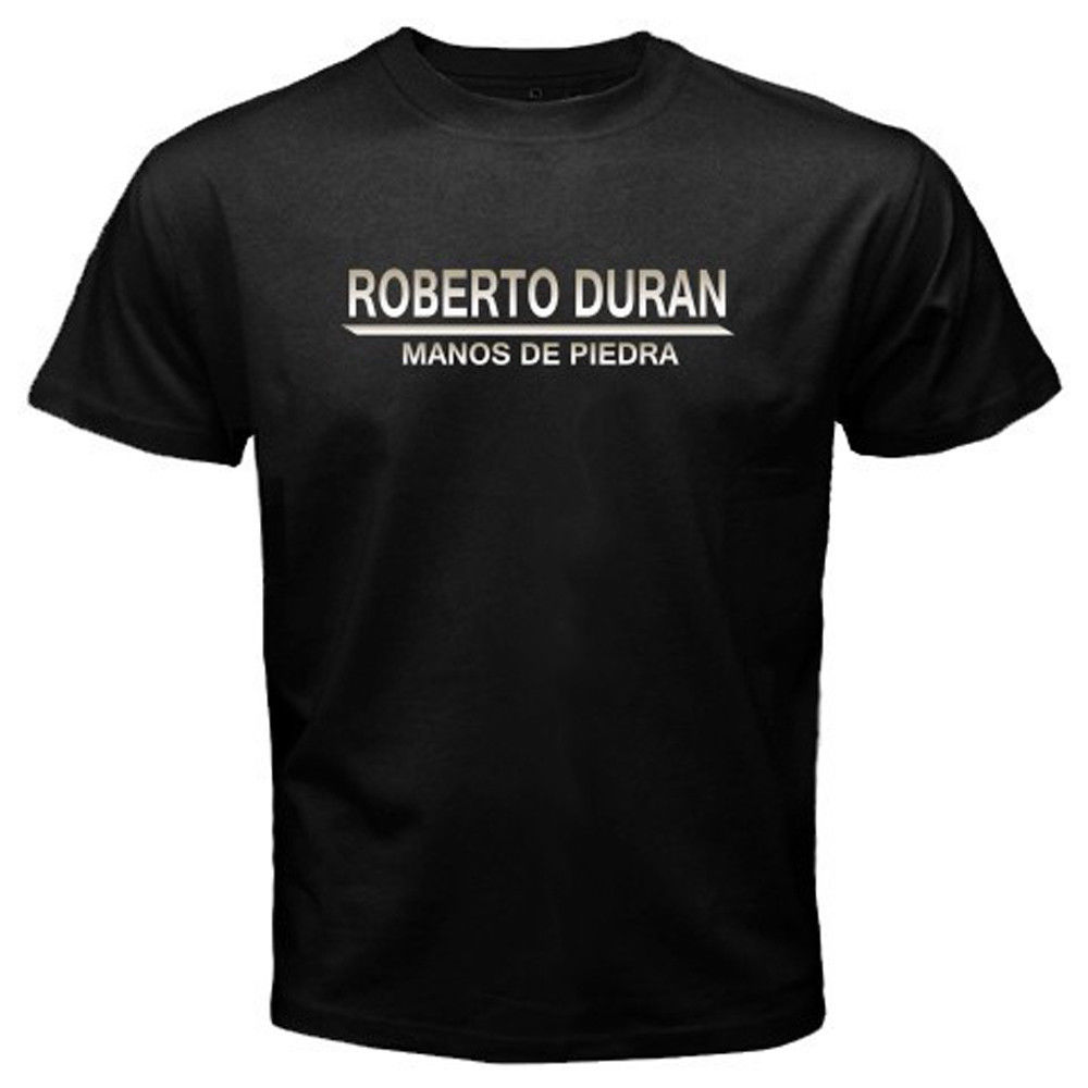 New Roberto Duran Manos De Piedra Boxing Legend Mens Black Short Sleeve Hip Hop Tee T Shirt top tee