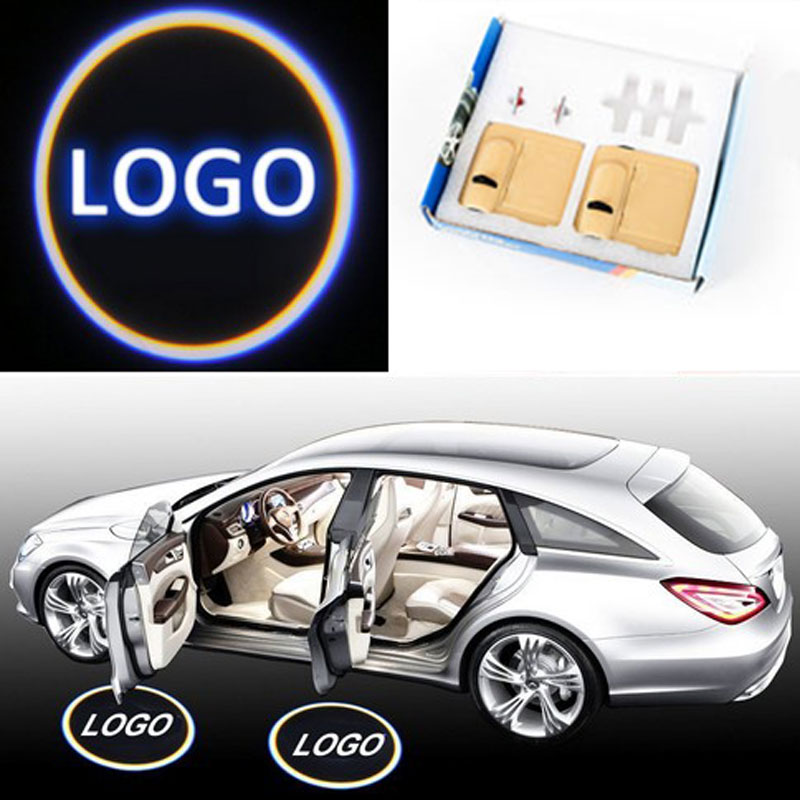 2pcs/pair Wireless Car Door Welcome Light Logo No Drill Type Badge Lights LED Laser Ghost Shadow Projector Lamp for Most Cars bosch pws 850 125