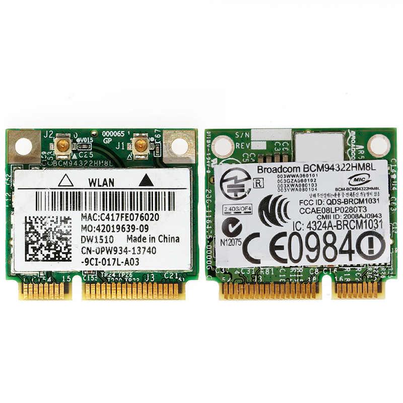 Detail Feedback Questions about Mini PCI E BCM94322HM8L DW1510 Dual