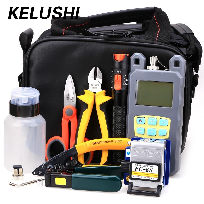 KELUSHI 20 IN 1 Fiber Cleaver ile Fiber Optik FTTH Aracı Kiti-70 ~ + - İletişim Ekipmanları - Fotoğraf 1
