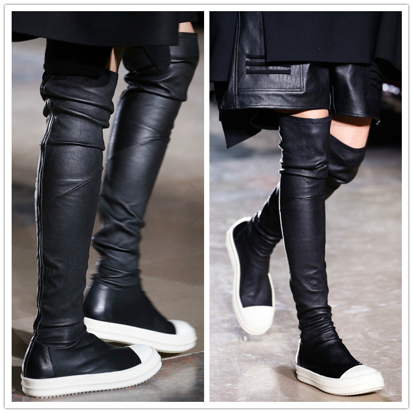 2015-New-Famous-Brand-Womens-Black-Tight-High-Boots -Flat-Genuine-Leather-Over-The-Knee-Stretch.jpg