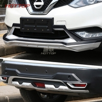 Автомобиль ABS хромированные спереди + заднего бампера протектор гвардии опорная плита Подходит для Nissan Qashqai 2016 2017