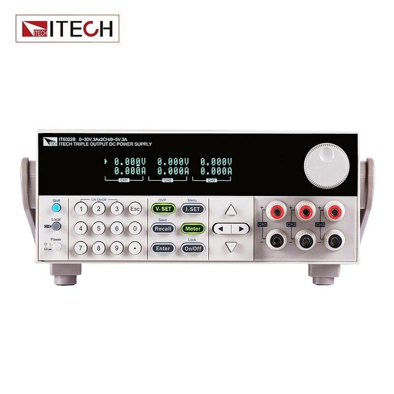 ITECH IT6322B Affichage Numérique Programmable à 3 canaux DC Alimentation Lsolated Puissance Réglable Alimentation de Laboratoire