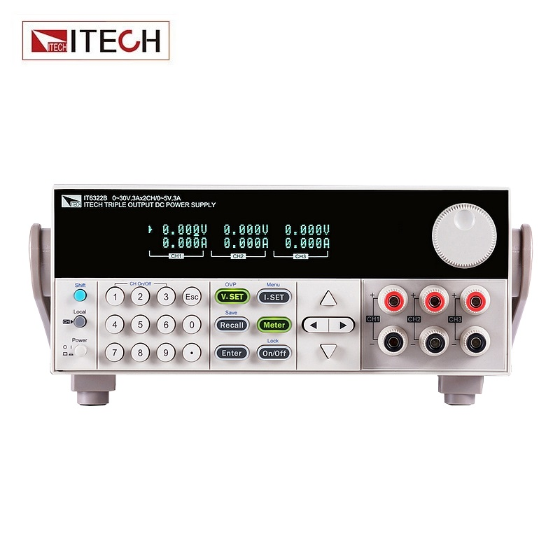ITECH IT6322B Digital Display 3-channel Programmable DC Power Supply Lsolated Power Adjustable Laboratory Power Supply itech k136dw