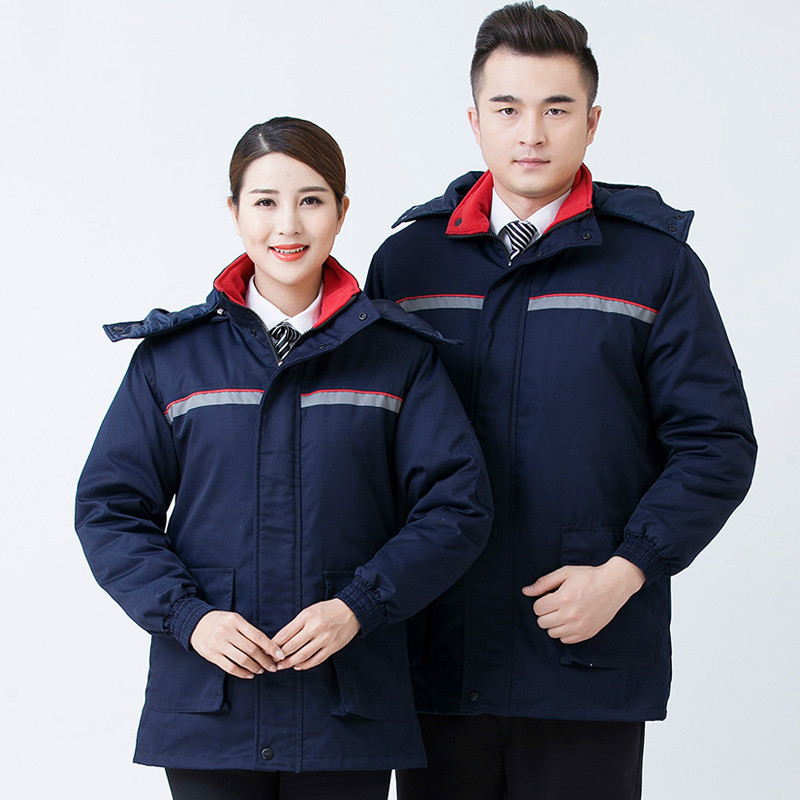 Cotton Unisex Working Coat Reflective Starp Protective Clothing High Quality Anti-static Winter Outside Thermal Safety Clothes anti static clothes and cleanroom clothes working clothes esd coat clothes color blue