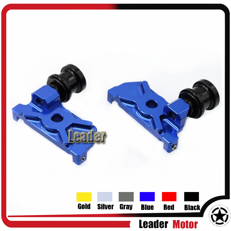 For YAMAHA YZF R3 YZF-R3 2015-2016 YZF R25 YZF-R25 2014-2015 Motorcycle Accessories CNC Swingarm Spools Adapters Mounts Blue 2015 2016 2015 2015