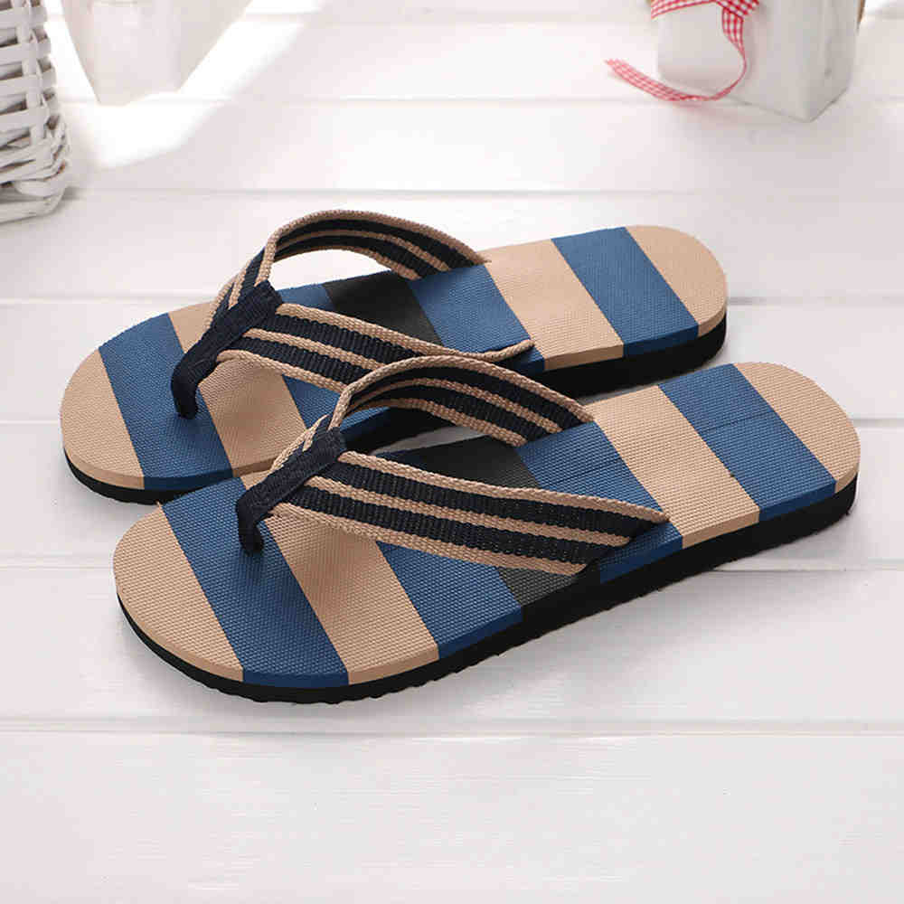 SAGACE 2018 Hot Selling Fashion Men Summer Stripe Flip Flops Shoes Sandals Boys Flip-flops EVA Mixed Colors Flat with Shoes hot sale women fashion summer slope with flip flops sandals loafers shoes 0320