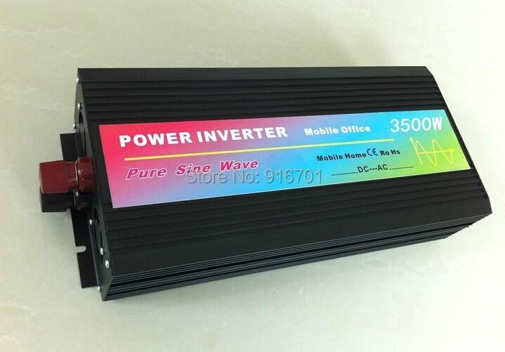 Onduleur à onde sinusoïdale Pure 3500 W, onduleur DC/AC pour système solaire PV, DC12/24/12 V à AC100/110/120/220/230/240/