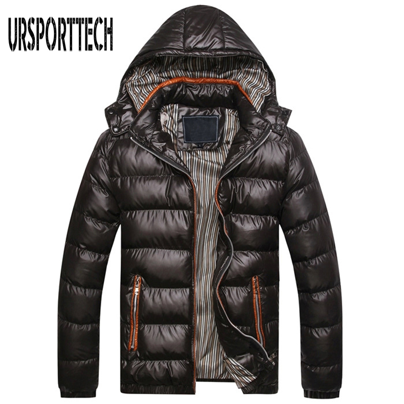 New Brand Clothing Men Winter Jacket Warm Male Hooded Coats Fashion Thick Thermal Mens   Parka   Jacket Casual Mens Winter   Parkas
