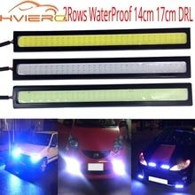 цена на 10Pcs 17cm 14cm Car-styling White Blue 76 LED Double Row Daytime Running lights DC 12V Waterproof Auto Car DRL Driving Fog lamp