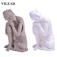VILEAD Nature Sandstone Sleeping Buddha Statuettes Southeast Asia Thiland Fengshui Buddha Figurines Miniature Vintage Home Decor