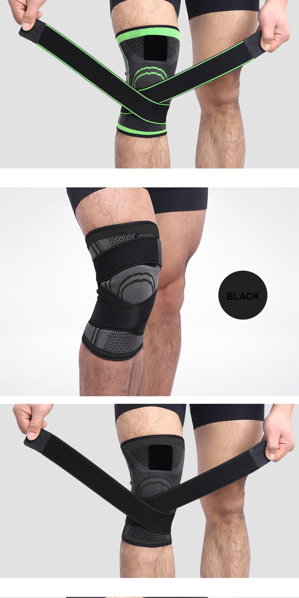 bd0fe17cf7 3D Sports Knee Pad Knee Brace Professional Protective Sports Knee ...
