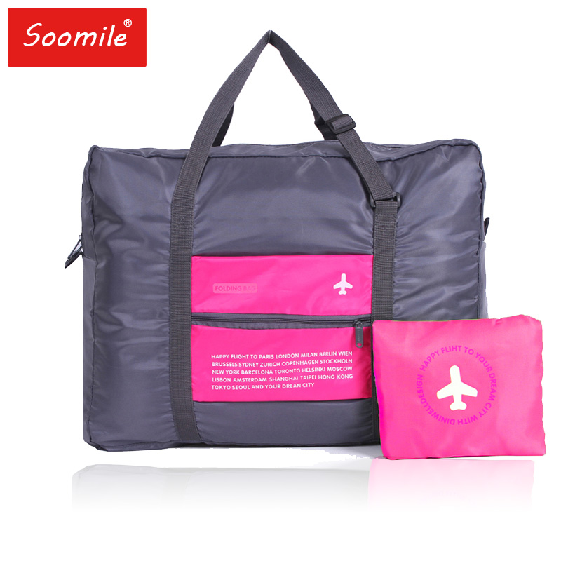 Travel Bags Plane Pattern Foldable High Capacity Soft Polyester Handbag Travel Bag Duffel Bag Trip Luggage Handbag Drop Shipping