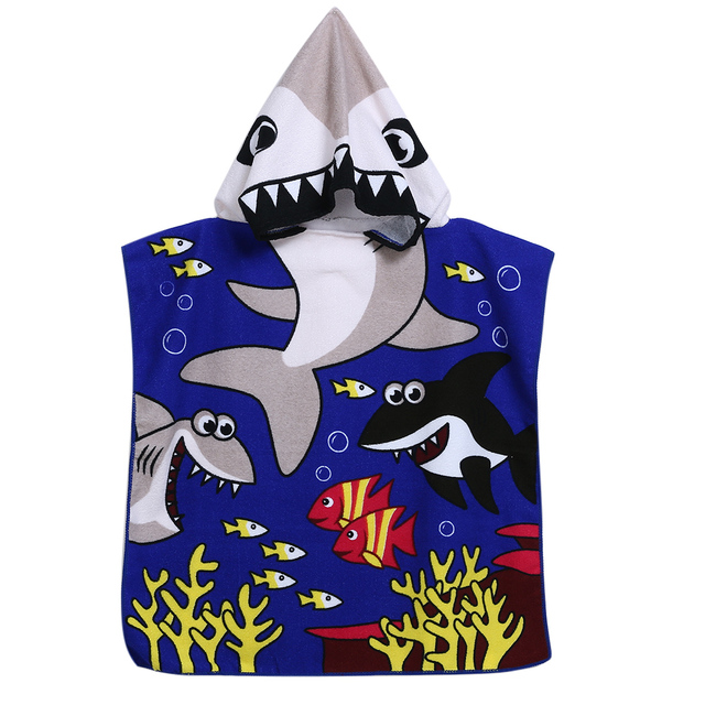 Kid's Shark / Pirate Style Hooded Towel 3