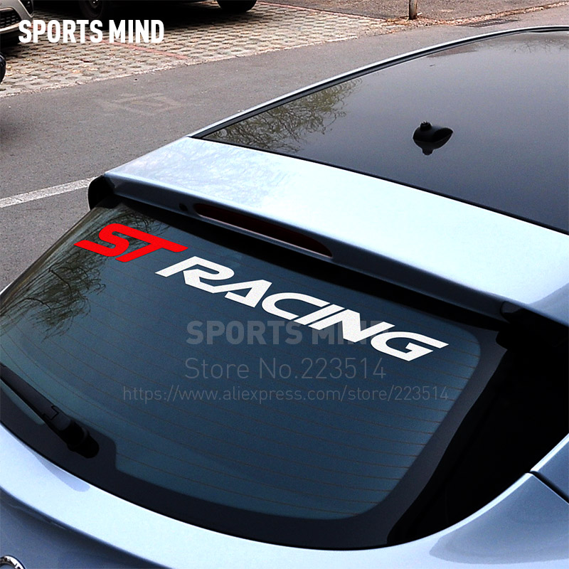 Sports Mind ST RACING Automobiles Car Sticker Decal Car Styling For Ford Focus Ranger Kuga Mondeo Fiesta Exterior Accessories