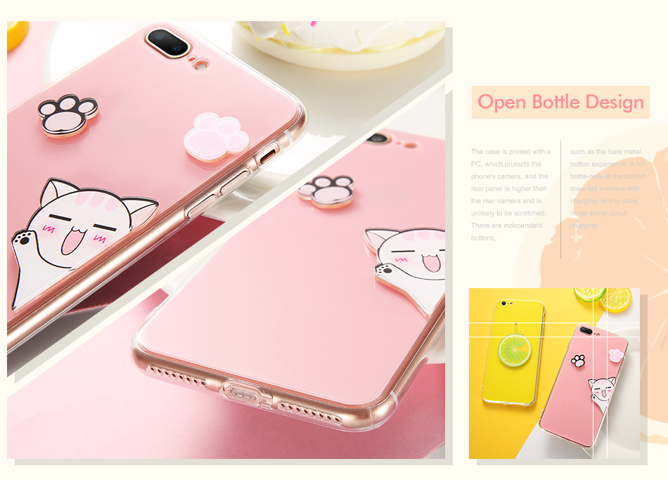 Cute Silicon Cat Case For iPhone