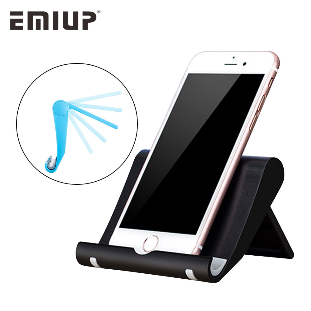 EMIUP Desk Phone Holder for iPhone Universal Mobile Phone Stand Flexible Desk Holder Stand for Samsung Xiaomi iPad Tablet PC