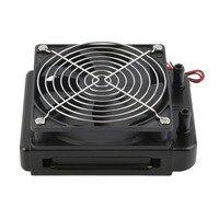 Profesyonel 120mm su soğutma cpu soğutucu Fan sıra eşanjör radyatör için Fan ile PC aksesuar
