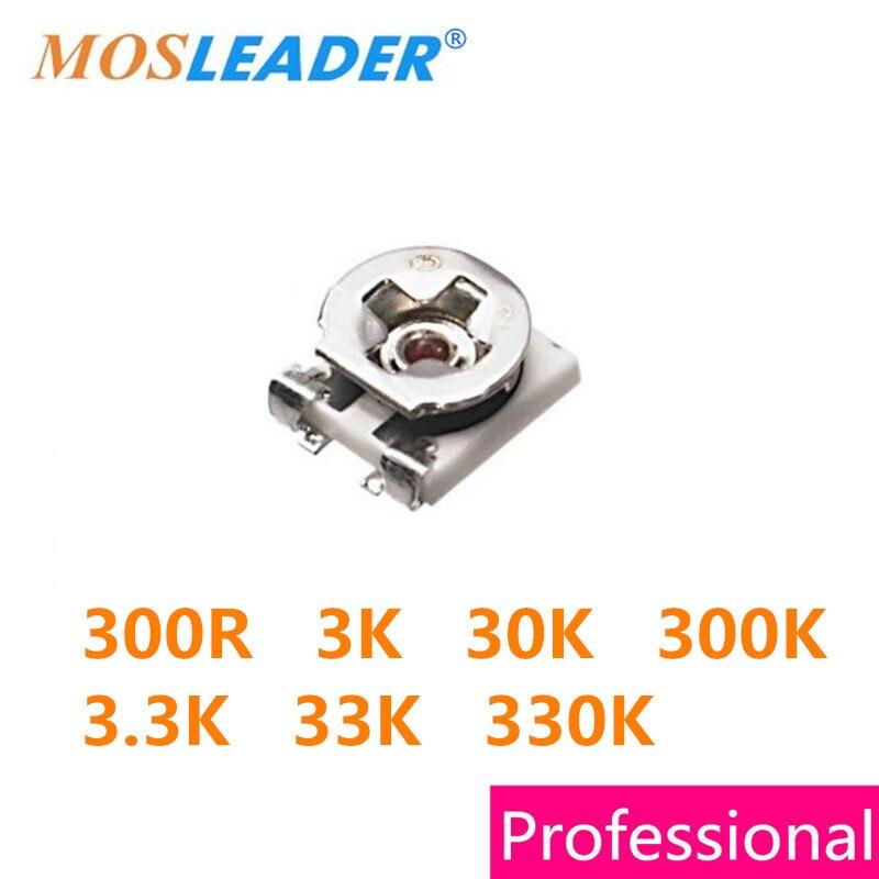 Mosleader SMD 1000PCS 2500PCS 3X3 3*3 300R 3K 30K 300K 3.3K 33K 330K 3MM Trimmer High quality mosleader dip pt908 7c f 1000pcs