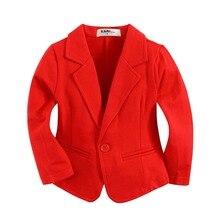 Nouvelle arrivée coton tricoté 100% bébé garçon blazer BJ11 solide rouge
